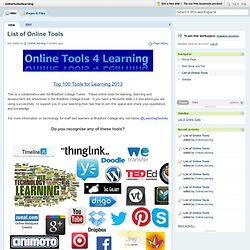 onlinetools4learning [licensed for non-commercial use only] / List of Online Tools