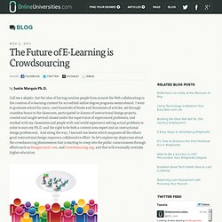 The Future of E-Learning is Crowdsourcing