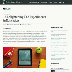 18 Enlightening iPad Experiments in Education