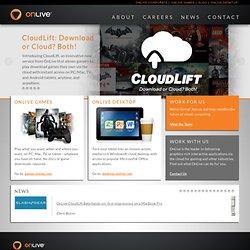 Welcome to OnLive.com