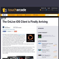The OnLive iOS Client is Finally Arriving