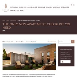 The Only New Apartment Checklist You Need To Know!! Check ...