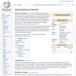 Only Girl (In the World) - Wikip?dia
