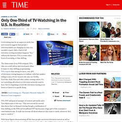 Only One-Third of TV-Watching in the U.S. Is Realtime