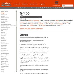 OnMusic Dictionary - Term