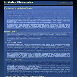 Les dangers du Codex Alimentarius