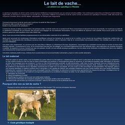 Le Lait de vache, un aliment non spécifique à l'Homme