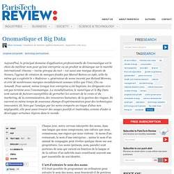 Onomastique et Big Data