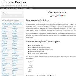 Onomatopoeia - Examples and Definition of Onomatopoeia