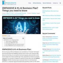 ONPASSIVE & It's New AI based Solution business Plan 2020?