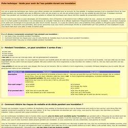INONDATION: Guide pour avoir de l'eau potable