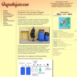 Produire son propre Biogaz