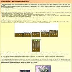 Fiche technique la tour de pommes de terre for Les techniques de jardinage