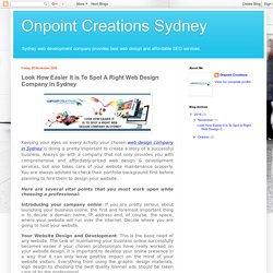 Look How Easier It is To Spot A Right Web Design Company in Sydney