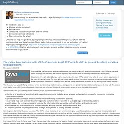 Legal OnRamp - Clients Driving Change