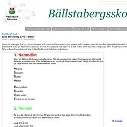 Läxa till onsdag 27/3 - Dikter - Tobias Lindström Rosander