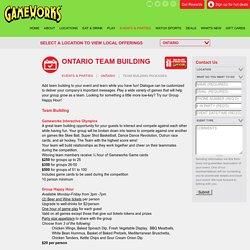 Team Building in Ontario