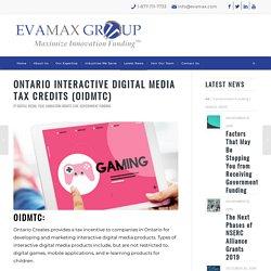 Ontario Interactive Digital MediaTax Credits (OIDMTC)