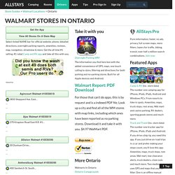 Ontario ON Wal mart Store Locations
