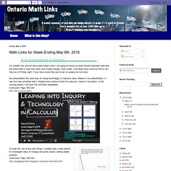 Math Links for Week Ending May 6th, 2016