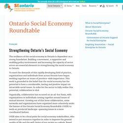 Ontario Social Economy Roundtable - Social Enterprise Ontario