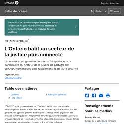 Brève - L'Ontario bâtit un secteur de la justice plus connecté