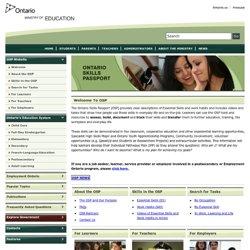Image of Ontario Skills Passport website homepage