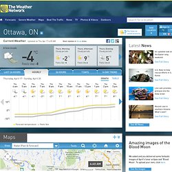 Hourly Forecast: Ottawa