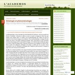 Ontologie et phénoménologie