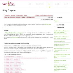 Etude de l'ontologie Wordnet Libre du Français (WOLF)