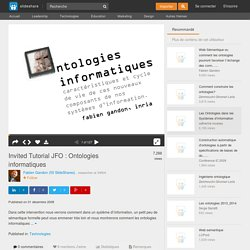 Invited Tutorial JFO : Ontologies informatiques