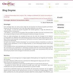 Ontologies, Wordnet, Eurowordnet et WOLF