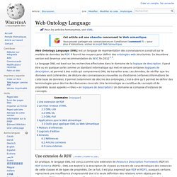 Web Ontology Language