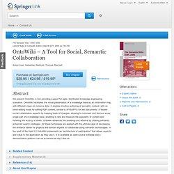 OntoWiki – A Tool for Social, Semantic Collaboration