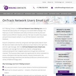 OnTrack Network Customers Mailing List