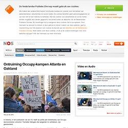 NOS: Ontruiming Occupy-kampen Atlanta en Oakland