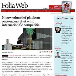 Nieuw educatief platform ontwerpers HvA wint internationale competitie