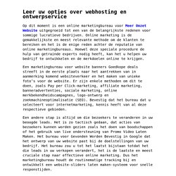 Leer uw opties over webhosting en ontwerpservice