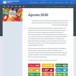 ONU México » Agenda 2030