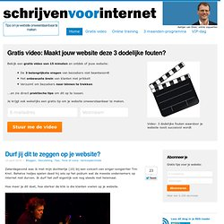 Internet copywriting tips door Aartjan van Erkel