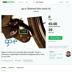 go-e ONwheel converts your bike into an e-bike in seconds by Frank Fox