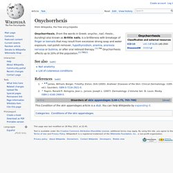 Onychorrhexis