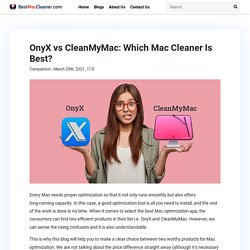 OnyX vs CleanMyMac: Which Mac Cleaner Is Best?