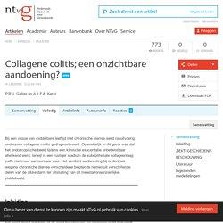 Collagene colitis; een onzichtbare aandoening?