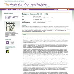 Oodgeroo Noonuccal - Woman - The Australian Women's Register