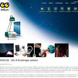 OOLUX » OOLUX – Kit d'éclairage solaire