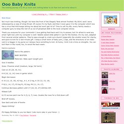 Ooo Baby Knits: Sick Days