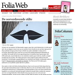 Henk Strikkers: De oorver- dovende stilte FoliaWeb