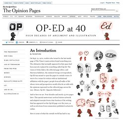 Op-Ed at 40 - Interactive Feature