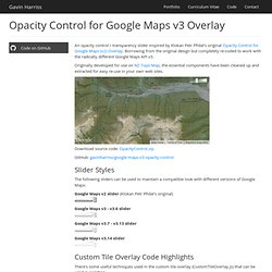 Opacity Control for Google Maps v3 Overlay
